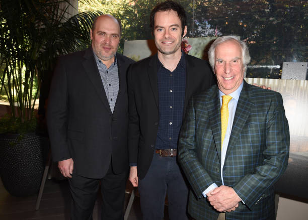 LOS ANGELES, CA - JANUARY 04: (L-R) Actor Glenn Fleshler, actor-producer Bill Hader, and actor Henry Winkler attend the 19th Annual AFI Awards at Four Seasons Hotel Los Angeles at Beverly Hills on January 4, 2019 in Los Angeles, California. (Photo by Kevin Winter/Getty Images for AFI)