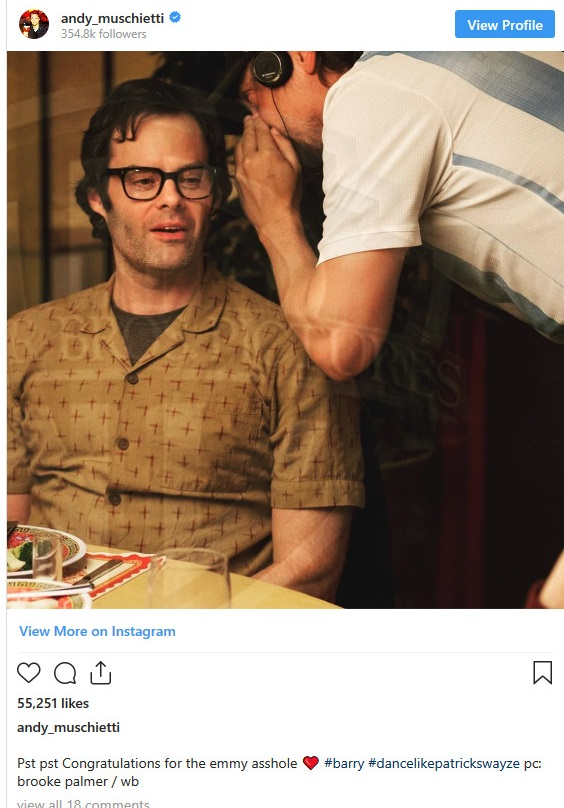 Screenshot_2019-09-25 IT Chapter Two Director Congratulates Bill Hader's Emmy Win With Awesome Set Photo